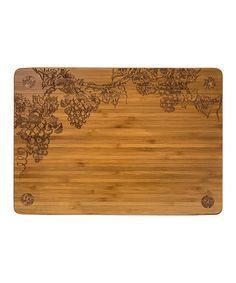 Look what I found on #zulily! 13'' x 9'' Vineyard Cork-Footed Cutting Board #zulilyfinds
