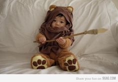 Kid Ewok - if I have children, they will always be wearing this.