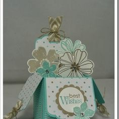 The Craft Spa - Stampin' Up! UK independent demonstrator : Centre Step Easel Card Tutorial for Fancy Fold Friday