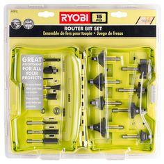 Ryobi Router Bit Set (15-Piece)-A25R151 - The Home Depot