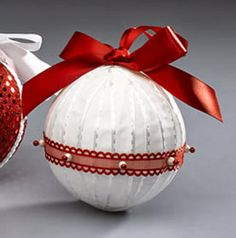 5 Bolas de natal artesanais passo a passo