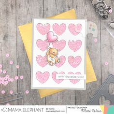 mama elephant   design blog: STAMP HIGHLIGHT: Up With Love Cute Valentines Card, Happy Valentines Day, Mama Elephant Stamps, Love Bear, Love Stamps, Heart Balloons, Elephant Design, Shaker Cards, Blue Bird