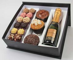 DIY ideas~ Truffles or cake pops, cupcakes and champagne