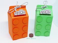 Caixa Milk Lego Lego Ninjago, Ninjago Party, Lego 4, Lego Birthday Party, Boy Birthday, Rescue Bots Birthday, Lego Girls, Milk Box, Lego Marvel