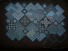 Meg is working an unusual but very effective variation of Save the Stitches. www.blackworkjourney.co.uk: