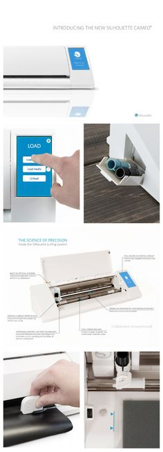 Meet New Silhouette CAMEO. The cross cutter is brilliant and an LCD touch screen with tutorials? awesome!