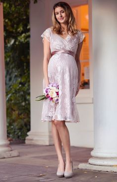 fca71786bf Warming blush is a radiant new colour for our Eden short maternity gown.  Our new