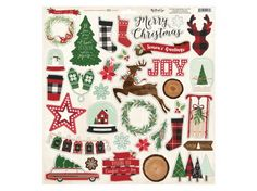 Chipboard Elements Jingle All the Way