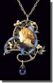 c. 1920's Art Nouveau Figural Pendant By Rene Lalique
