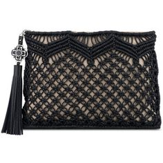 Rafe Celia Large Macrame Clutch Bag