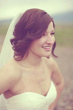 Short wedding hair -- bridesmaids idea