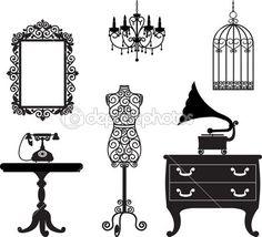 mueble antiguo — Ilustración de stock #13724319
