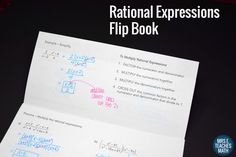 Rational Expressions Flipbook - Great product and good use of time in class. I used it as a review and the students found it very helpful.
