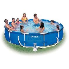 INTEX 12ft x 30in Metal Frame Pool Pool is easy to set up - no special tools required Super tough side walls are triple strong Made http://www.comparestoreprices.co.uk/outdoor-toys/intex-12ft-x-30in-metal-frame-pool.asp