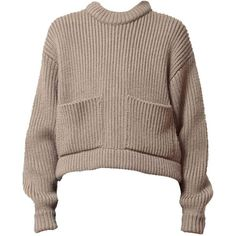 Heavy knit sweater (30.385 RUB) ❤ liked on Polyvore featuring tops, sweaters, shirts, jumpers, round neck shirt, knit jumper, knit sweater, brown knit sweater and brown shirt