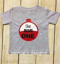 Fishing Theme The Big ONE First Birthday Shirt , baby boy 1st birthday