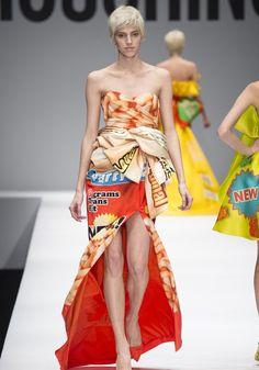 crackers graham dress by Moschino 2014-2015