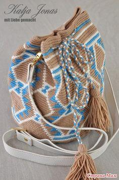 Sehr schöne Bildanleitung zur Herstellung einer Wayuu / Mochila Tasche. Auf der Webseite etwas herunter scrollen: