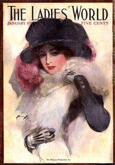Harrison Fisher cover The Ladies' World, 1912 ~ LÁMINAS VINTAGE,ANTIGUAS,RETRO Y POR EL ESTILO.... (pág. 691) | Aprender manualidades es facilisimo.com