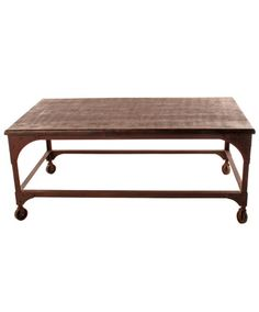 Industrial Coffee Table With Casters