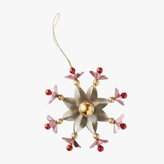 Christmas Tree Ornaments So Fabulous You'll Want to Admire Them All Year Long Snowflake Ornaments, Christmas Tree Ornaments, Snowflakes, Vogue 2016, Fir Tree, Anthropologie, Seasons, Winter, Holiday