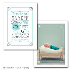 Customized Baby Announcement Digital