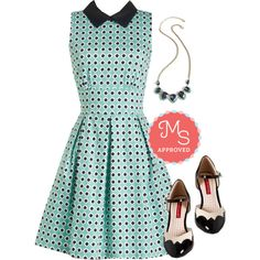 Work in Finesse Dress by modcloth on Polyvore featuring Closet London and But Another Innocent Tale