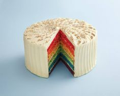 Rainbow Cake - prefect for every celebration! Call 800-42473 to place special orders or pre-order online: http://ae.hummingbirdbakery.com/order/
