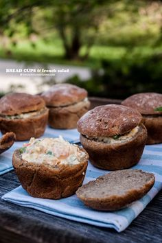 Bread Cups & French Salad