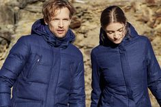 Noble inside and out: this cutting-edge down coat is made from Loro Piana fabric, giving it that luxurious look and feel. Winter Day, Down Coat, Out Of Style, Insulation, Parka, Going Out, Raincoat, Turtle Neck, Fur