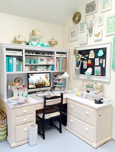 Best craft room storage and organization furniture ideas 00013 Craft Room Decor, Craft Room Design, Craft Room Storage, Storage Ideas, Craft Rooms, Craft Desk, Basement Storage, Laundry Storage, Bedroom Storage