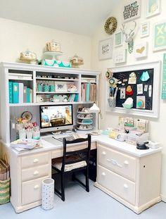 Best craft room storage and organization furniture ideas 00013 Craft Room Decor, Craft Room Design, Craft Room Storage, Storage Ideas, Craft Rooms, Craft Desk, Basement Storage, Laundry Storage, Bedroom Storage