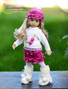 """""""Purple & Snow"""" Outfit,Clothes,Dress for 13"""" Dianna Effner Little Darling"""