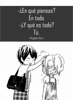 cosas de amor Blue Things mitsubishi evo x blue color code Sad Anime, Anime Love, Kawaii Anime, Amor Quotes, Love Quotes, Love Phrases, Cute Love Memes, Happy Love, Happy Relationships