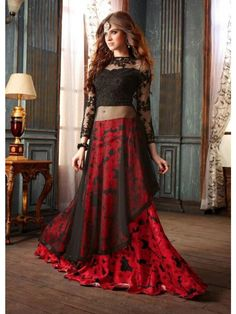 Net Party Wear Lehenga Style Suit