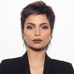 50 Popular and Posh Pixie Cut Looks Short Pixie Haircuts Loading. Very Short Pixie With Side Bangs Previous Post Next Post Short Pixie Haircuts, Haircuts With Bangs, Hairstyles For Round Faces, Short Hairstyles For Women, Bob Hairstyles, Haircut Short, Wedding Hairstyles, Pixie Haircut Thin Hair, Pixie Cut Thin Hair