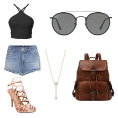 """""""Woman 1"""" by chloe-huguenin on Polyvore featuring J Brand, Madden Girl, Ray-Ban and EF Collection"""