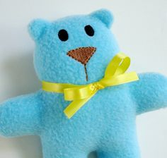 Embroidery Design for Machine Embroidery Bear Softie In-The-Hoop. $3.99, via Etsy.