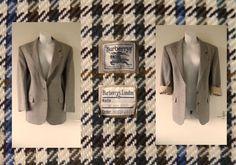 VTG Genuine BURBERRY Wool Oversized Boyfriend Blazer Jacket Coat Women Ladies 10   25.00
