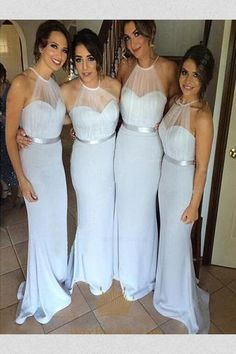 8a4f5771e1ec Bridesmaid Dress Chiffon, White Bridesmaid Dress, Bridesmaid Dress A-Line, Cute  Bridesmaid