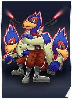 Falco Victory Pose T-Shirt by Skytch on DeviantArt Party Characters, Nintendo Characters, Super Smash Bros Melee, Victory Pose, Childhood Games, Star Fox, Metroid, Super Nintendo, Video Game Art