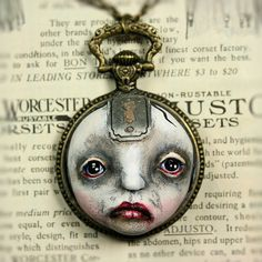 Original Cameo Sculpture Steampunk Soul by michelelynchart on Etsy, $55.00