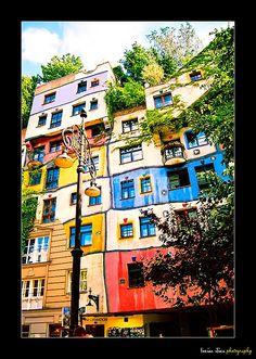 Hundertwasserhaus - A Hundred Waters - the most unbelievable building in Vienna, Austria (seen, 2008)