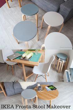IKEA Frosta Stool makeover in Scandinavian colors