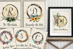 A Touch Of Rustic & A Whole Lotta Darling With Personalized Farmhouse Style Art Prints. A beautiful personalized gift idea or home decor. Pick your favorite design!