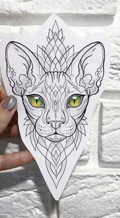 Tattoos And Body Art tattoo stencils Cat Eye Tattoos, Wrist Tattoos, Animal Tattoos, Love Tattoos, Body Art Tattoos, Sphynx Cat Tattoo, Egyptian Cat Tattoos, Arabic Tattoos, Dragon Tattoos