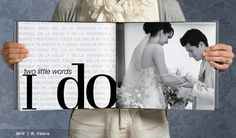 Wedding vows printed in photo album