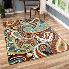 Havenside Home Morgantown Indoor/Outdoor Paisely Area Rug