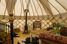 Luxury yurt for romantic glamping in the Black Mountains of the ...