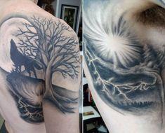 Best Men's Wolf Tribal Tattoos